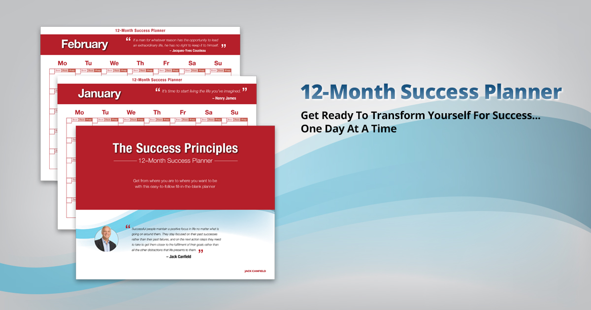 the success principles 12 month planner jack canfield